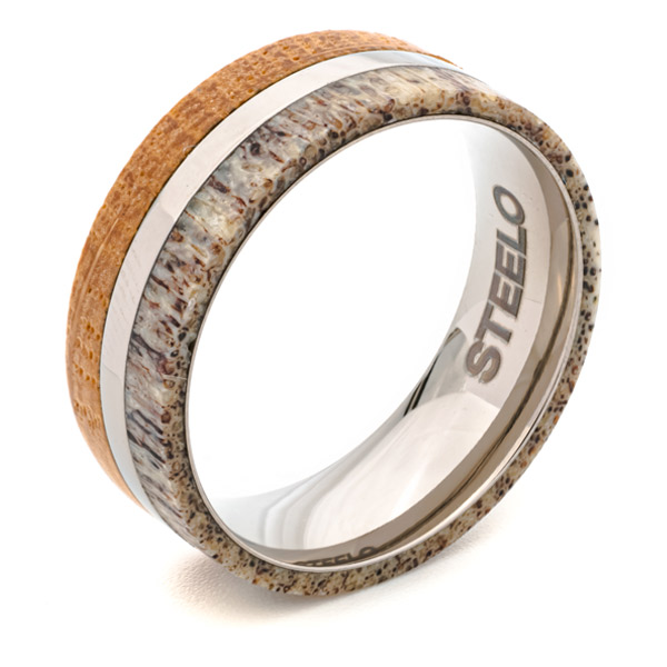 deer antler whiskey barrel ring