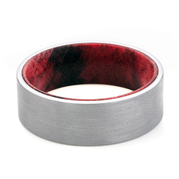 wood tungsten ring